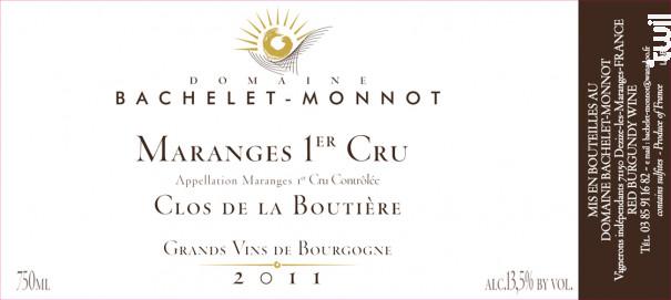 Maranges Premier Cru Clos de la Boutière - Domaine Bachelet-Monnot - 2017 - Rouge