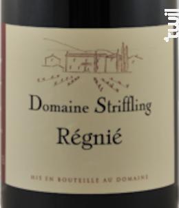 Régnié - Domaine Striffling - 2015 - Rouge