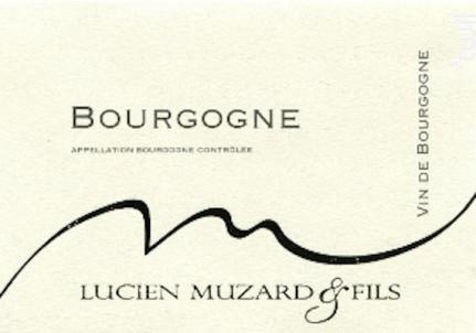 BOURGOGNE Pinot Noir - Domaine Muzard Lucien et Fils - 2013 - Rouge