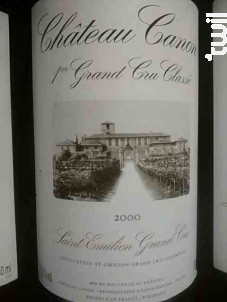 Château Canon - Château Canon - 2000 - Rouge