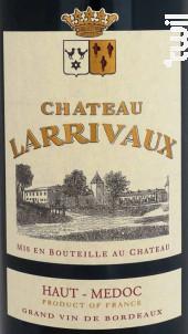 Château Larrivaux - Château Larrivaux - 2014 - Rouge