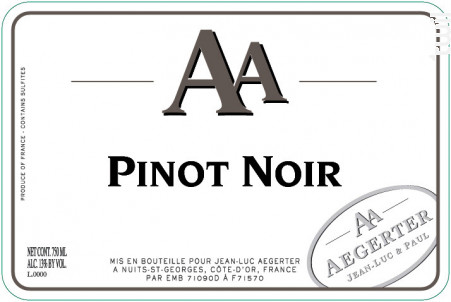 Aa Pinot Noir - Jean Luc et Paul Aegerter - 2018 - Rouge