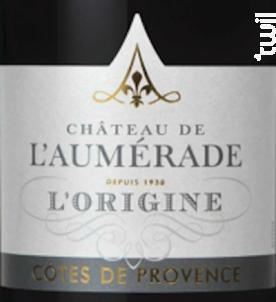 L'origine rouge - Château de l'Aumerade - 2016 - Rouge