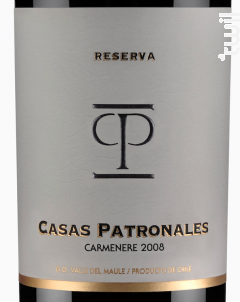 Casas Patronales Carménère - Casas Patronales - 2018 - Rouge