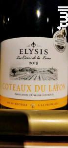 Elysis Coteau du Layon - Les Caves de la Loire - 2018 - Blanc