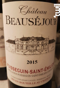 Château Beauséjour - Puisseguin-Saint-Emilion - Château Beauséjour - 2016 - Rouge