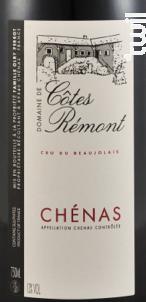 Chénas - Domaine de Côtes Rémont - 2016 - Rouge