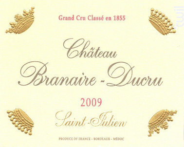 Château Branaire-Ducru - Château Branaire-Ducru - 2009 - Rouge