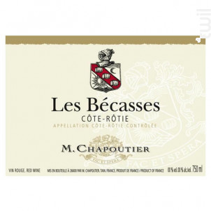 Les Bécasses - Maison M. Chapoutier - 2017 - Rouge