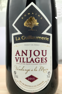 Anjou Villages - Domaine de la Guillaumerie - 2016 - Rouge