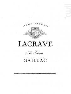 Lagrave Tradition - Terroir de Lagrave - 2015 - Blanc