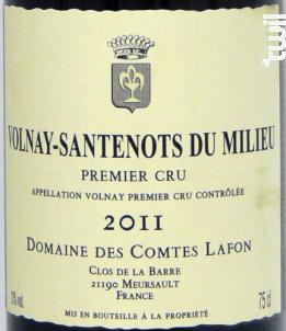 Volnay Santenots du Milieu 1er cru - Domaine des Comtes Lafon - 2015 - Rouge
