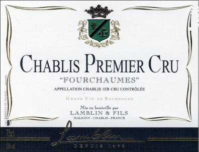 Chablis 1er Cru Fourchaumes - Michel Lamblin et Fils - 2018 - Blanc