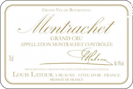 MONTRACHET - Maison Louis Latour - 2014 - Blanc