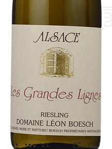 Riesling Grandes Lignes - Domaine Léon Boesch - 2017 - Blanc