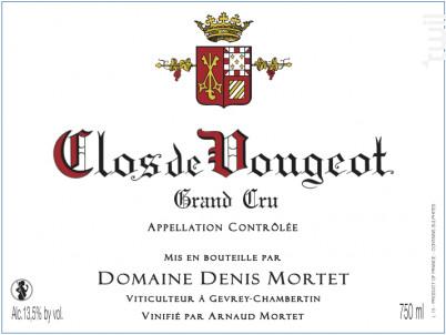 Clos-de-Vougeot Grand Cru - Domaine Denis et Arnaud Mortet - 2013 - Rouge