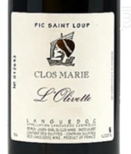L'Olivette - Clos Marie - 2018 - Rouge