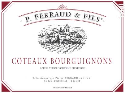 Coteaux Bourguignons - P. Ferraud & Fils - 2018 - Rouge