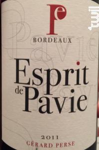 Esprit de Pavie - Château Pavie - 2011 - Rouge