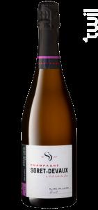Blanc de Noirs • Vieilli en fûts - Champagne Soret-Devaux - Non millésimé - Effervescent