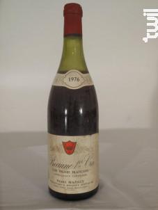 Beaune Premier Cru Les Vignes Franches - Domaine Mazilly Père & Fils - 1976 - Rouge