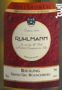 Riesling Grand Cru Muenchberg - Ruhlmann - 2018 - Blanc