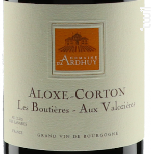 Aloxe-Corton Les Boutières-Les Valozières - Domaine d'Ardhuy - 2017 - Rouge