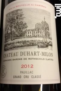 Château Duhart Milon - Domaines Barons de Rothschild - Château Duhart-Milon - 2012 - Rouge