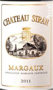 Château Siran - Château Siran - 2011 - Rouge