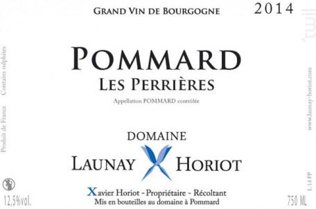 Pommard - Les Perrières - DOMAINE LAUNAY HORIOT - 2015 - Rouge