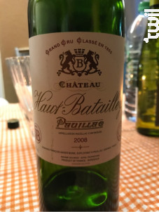 Château Haut Batailley - Château Haut Batailley - 2008 - Rouge