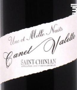 Une et Mille nuit - Domaine Canet-Valette - 2012 - Rouge