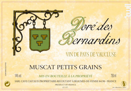 Doré des Bernardins - Domaine Des Bernardins - 2016 - Blanc