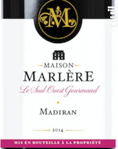 Madiran - Maison Marlère - 2014 - Rouge