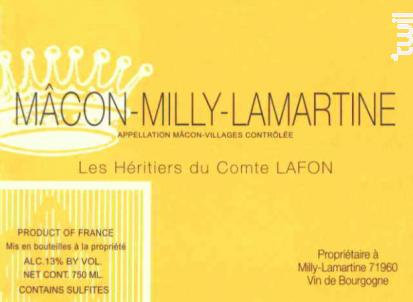 Mâcon-Milly-Lamartine - Domaine Les Héritiers du Comte Lafon - 2016 - Blanc