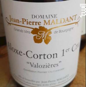 Aloxe-Corton 1er Cru Valozières - Domaine Maldant Jean-Pierre - 2017 - Rouge