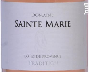 Tradition - Domaine Sainte Marie - 2020 - Rosé