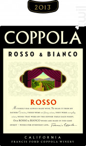 Rosso classic - assemblage rouge - FRANCIS FORD COPPOLA WINERY - 2015 - Rouge