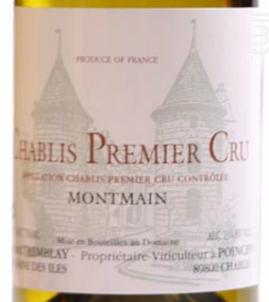 Chablis 1er cru Montmain - Domaine Gérard Tremblay - 2017 - Blanc