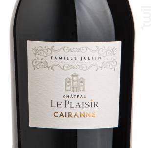 Cairanne - Château Le Plaisir - Famille Julien - 2019 - Rouge