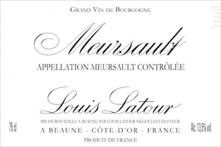 Meursault - Maison Louis Latour - 2016 - Blanc
