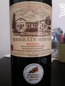 Merrain Rouge - Vignerons d'Uni-Médoc - 2015 - Rouge