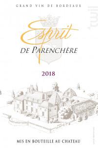 Esprit de Parenchère - Château de Parenchère - 2018 - Rouge