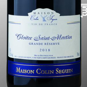 Cloitre Saint Martin - Grande Réserve - Maison Colin Seguin - 2018 - Rouge