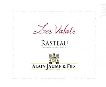 Les Valats - Alain Jaume - 2016 - Rouge