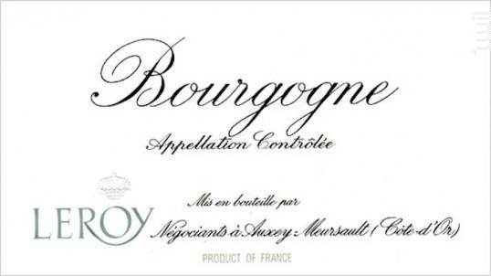 Bourgogne Pinot Noir - Domaine Leroy - 2015 - Rouge