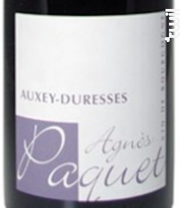 Auxey-Duresses - Domaine Agnès Paquet - 2018 - Rouge