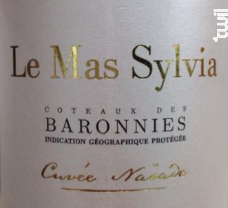 Cuvée Naïade - Le Mas Sylvia - 2016 - Blanc