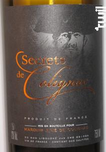 SECRETS DE COLIGNAC - Marquis Aimé de Colignac - Non millésimé - Blanc