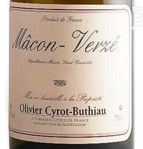 MACON VERZE - Domaine Cyrot-Buthiau - 2017 - Blanc